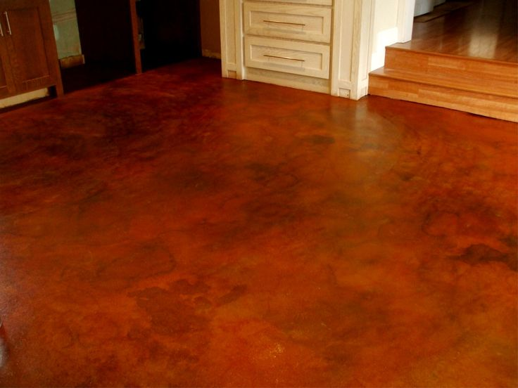 Stained concrete concrete stain is an inexpensive way to for Painting concrete basement walls