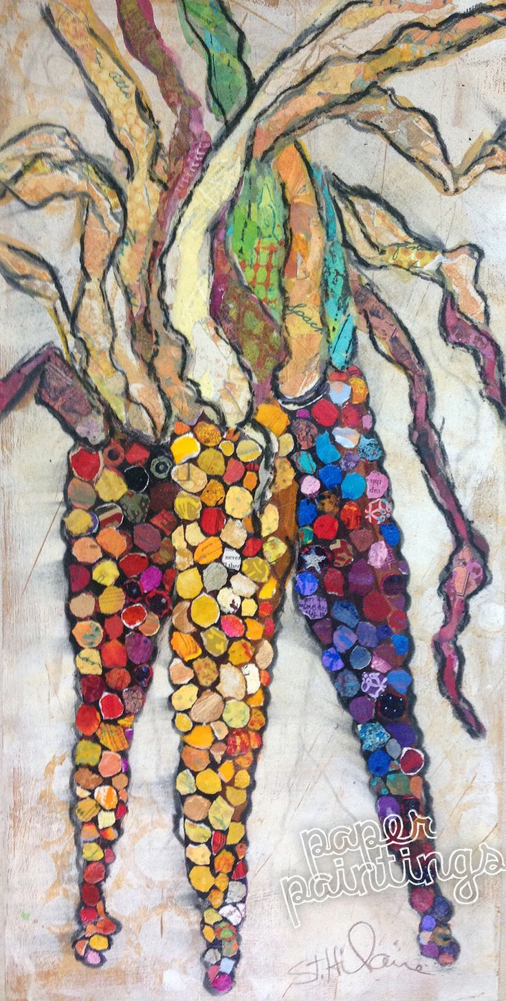 10x20 Fall Indian Corn / deep boxed birch wood panel / wired and ready to hang for the holidays / $595 with FREE USPS