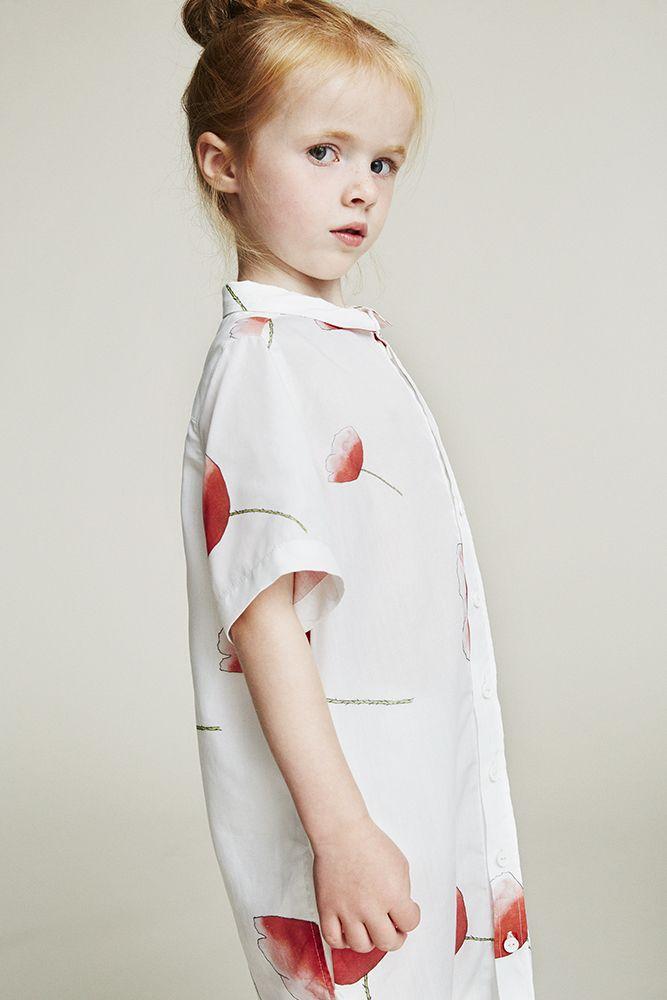 Lookbook SS17   WAWA Tunic Dress Petite Poppy - Col. Cream w. Print