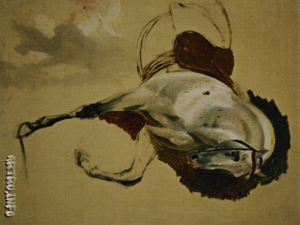 Лошадь. Этюд для «Портрета сестер Шишмаревых». 1839. 71 х 55. Холст, масло.