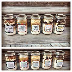 5 verschiedene Cookies im Glas - Mit Rezept und Etikett zum ausdrucken                                                                                                                                                                                 Mehr