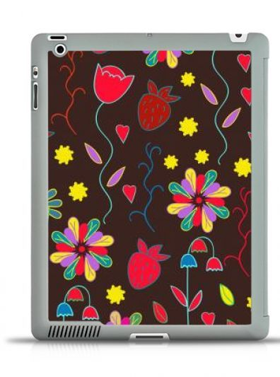 #IPad #3/4 #SMARTCOVER    #floral #ornament #pattern #flowers #round #colorful #abstract #ornate #summer #spring #garden #nature #colorful #case #iphone6