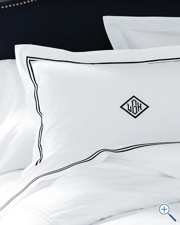 Need these shams by Frette: Guest Bedrooms, Garnet Hill, Bedrooms Beds, Master Bedrooms, Hotels Percal, Frett Classic, Percal Beds, Bedrooms Ideas, Classic Hotels