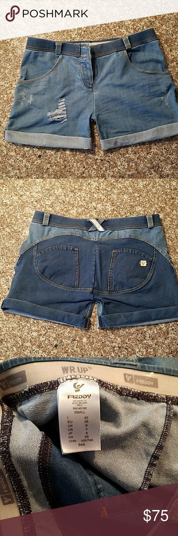 Freddy jean shorts Super flattering, great condition, the most comfortable pair of shorts you'll ever own. Only worn 3 times. Washed cold water gentle cycle. Air dry Freddy Shorts Jean Shorts