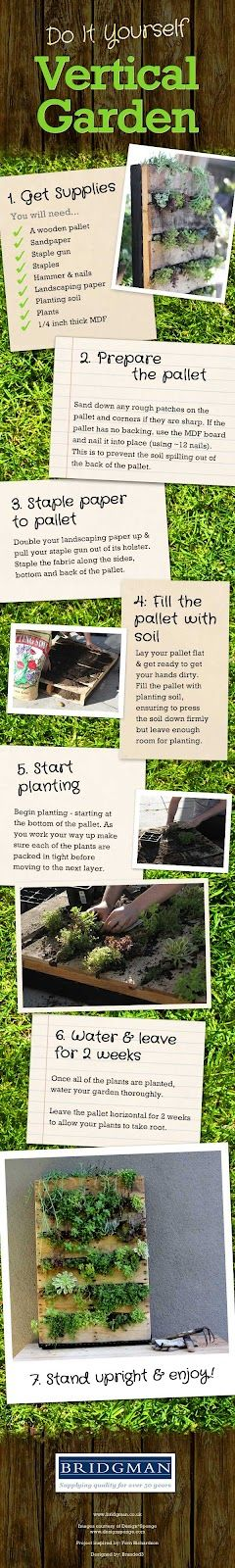 pallet vertical garden step by step picture tutorial