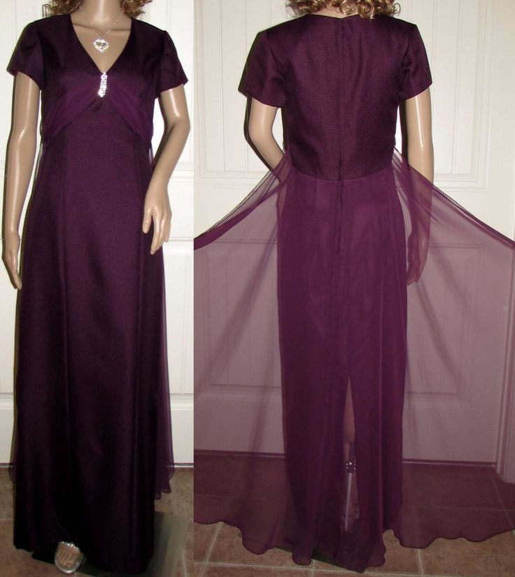 Formal Gown Long Evening Mother Bride Dress Wedding Party Burgundy Jordan 7 8  #JordanFashions #FormalGown #Formal