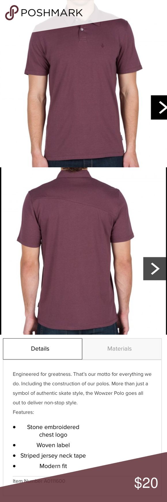 Volcom men's wowzer polo Volcom wowzer men's short sleeve polo in wine color. Only worn once Volcom Shirts Polos