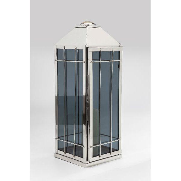 Κηροπήγιο Φανάρι House Smoke Ένα υπέροχο φανάρι σε μοντέρνο σχεδιασμό, κατασκευασμένο από ανοξείδωτο χάλυβα και γυαλί.