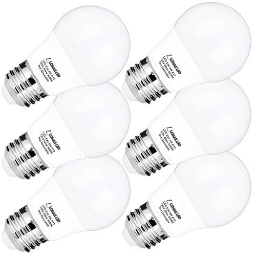 LOHAS A15 LED Bulb, 5W(40W Equivalent), Medium Base E26 LED Light Bulbs, Daylight White 5000K, 450LM LED Lights, LED Track Lighting, Not Dimmable LED Bulb For Home Decorative(6 Pack)