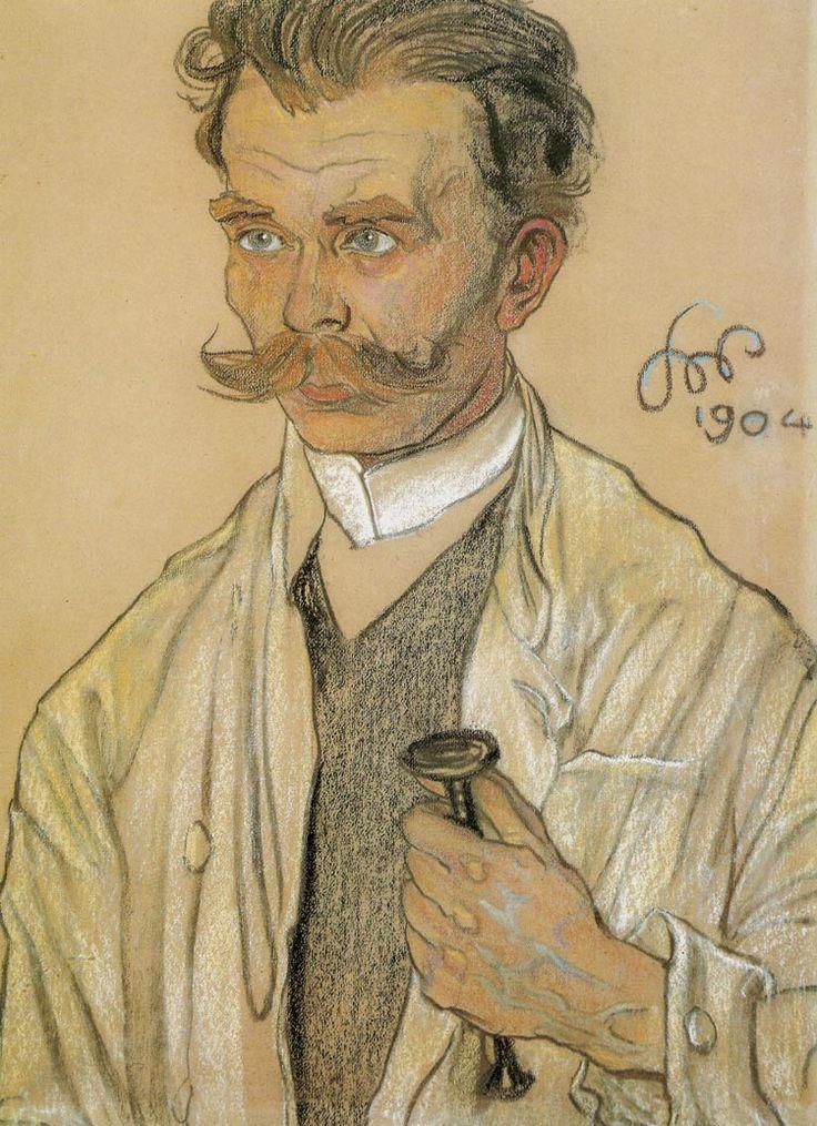 """Stanisław Wyspiański (Polish 1869–1907) """"Portrait of a Doctor"""", 1904, pastel, 63.5 x 48 cm, National Museum, Cracow."""