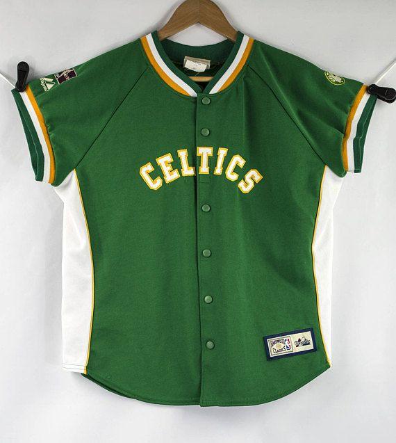 c08a38fb53ac Boston Celtics Sewn Majestic Hardwood Classics HWC NBA Boston Celtics