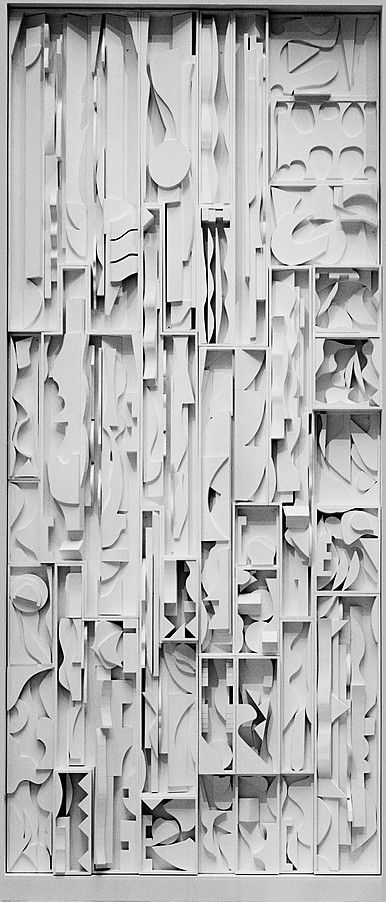 Collection Online | Louise Nevelson. White Vertical Water. 1972 - Guggenheim Museum