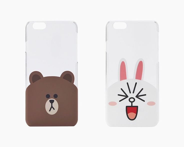 #LINE FRIENDS #BROWN #CONY Character Face Slim #Case Clear #Cover For Apple #iPhone 6 #LINEFRIENDS