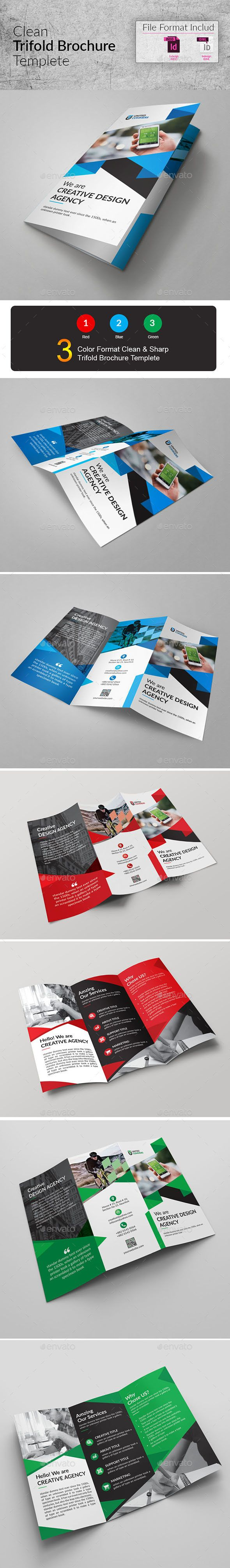 Trifold Brochue Template InDesign INDD
