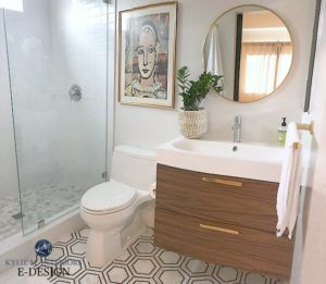 sherwin williams first star in bathroom with hexagon