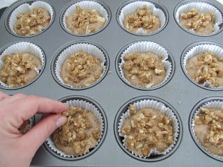 Apples, cinnamon and almonds- gorgeous muffins