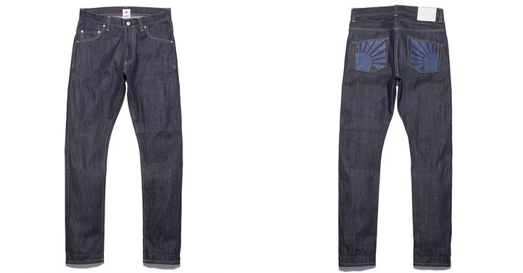 Somét 030-P High Rise Tapered Jeans Paint Your Pockets Blue - http://hddls.co/2lGAmRW
