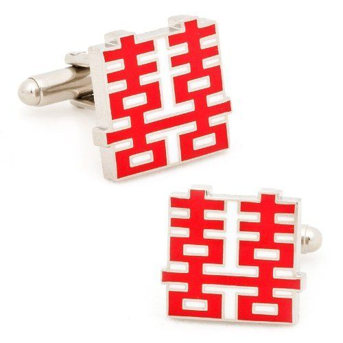 Double Happiness Cufflinks Cufflinks. $49.95. Makes A Great Gift. Rhodium Plated. High Quality