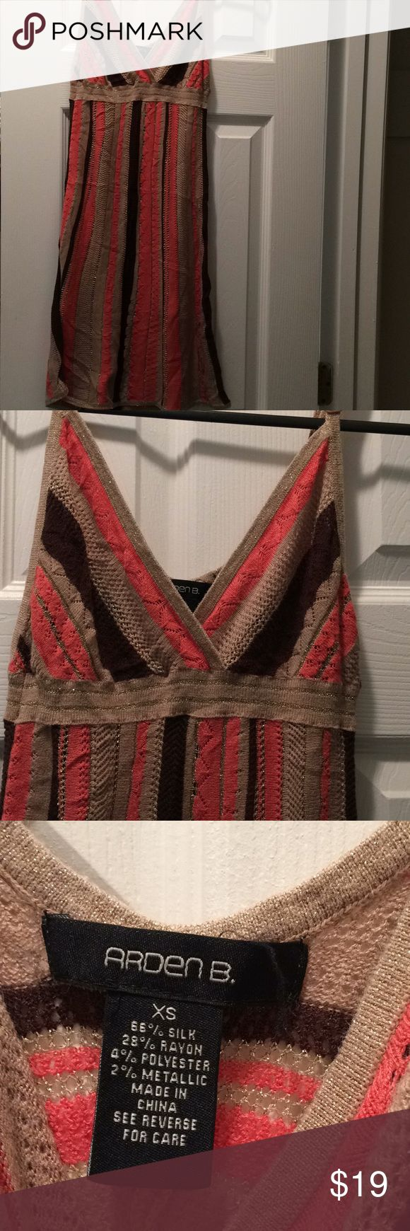 Arden B Beach Cover Up This is such a great cover up dress. It is not lined . Size XS with adjustable straps Arden B Dresses Mini