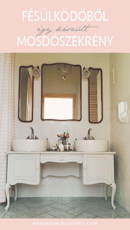 DIY dressing table makeover - it turns into a bathroom vanity I Fésülködőből mosdószekrény - így készült - részletes leírás