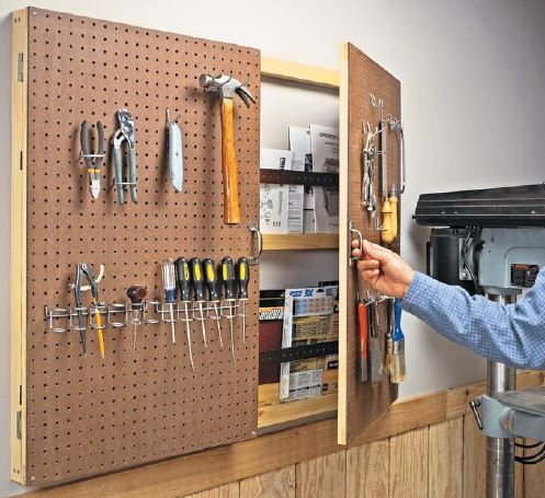 Get Creative with Pegboard Storage