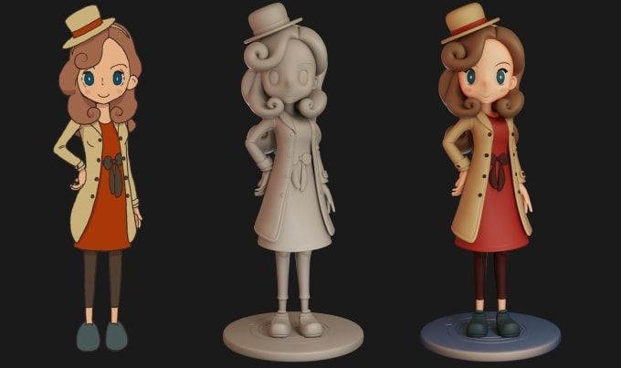 I Will Make 3d Assets Or Characters With Cartoon Or Anime Style Anime Style Anime 3d Assets