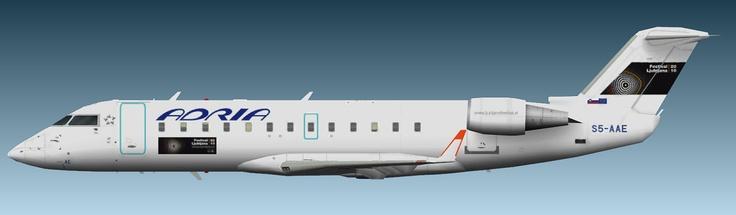 Adria Airways Bombardier CRJ-200 'Festival Ljubljana'
