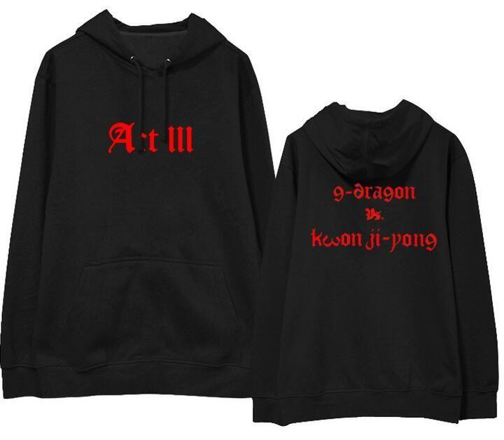 Kpop bigbang g-dragon gd album concert act iii motte same name printing fleece hoodies for vips supportive pullover sweatshirts  #love #ootd #streetstyle #model #sweet #fashion #shopping #instastyle #beauty #pretty