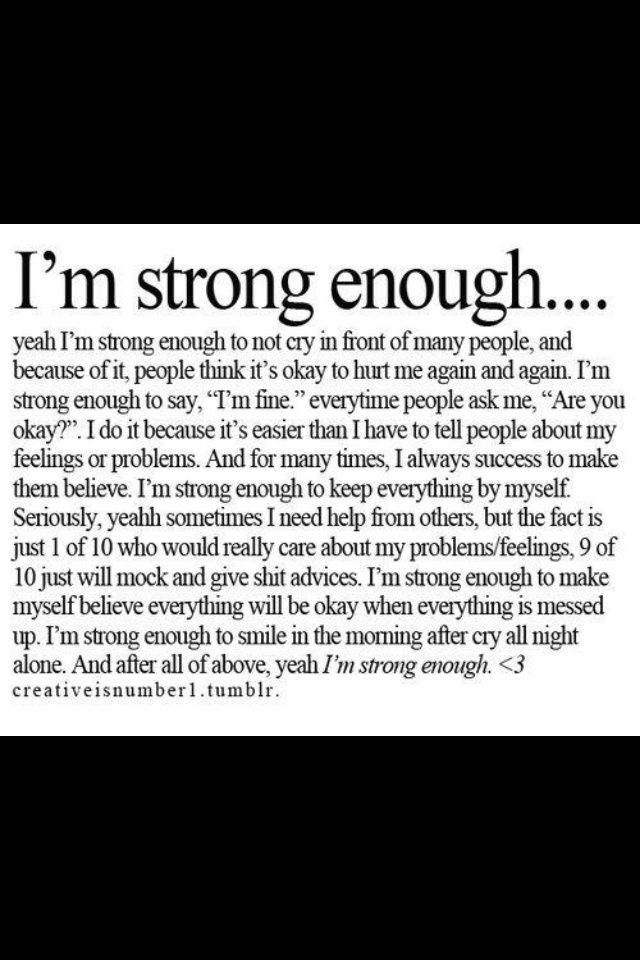 And I am strong quote