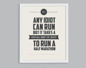 running quote pictures | ... Marathon Retro Print - Typographic Inspirational Running Quote - 8x10