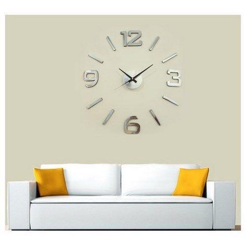 Nástěnné hodiny stříbrná, pr. 60 cm   4Home - pohodlí domova