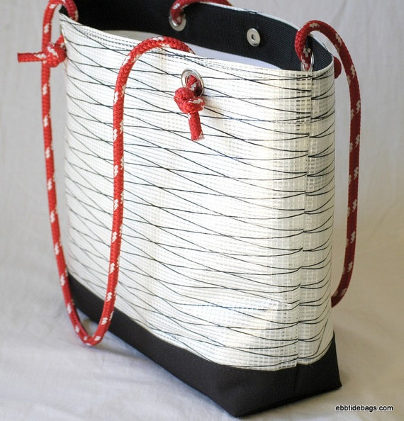 White Sail Cloth Tote hand made in the USA!