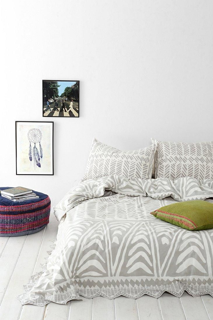 Magical Thinking Hand-Drawn Geo Duvet Cover #urbanoutfitters