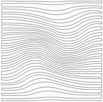 Golvend achtergrond patroon