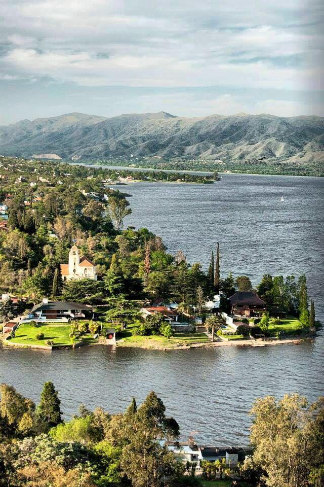 Postal del lago - Villa Carlos Paz, Córdoba