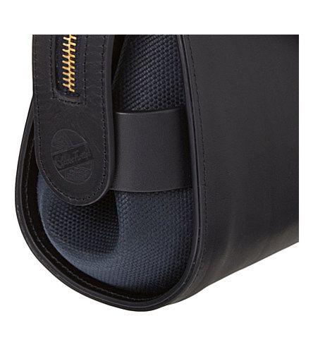 Leather, blue, bag, zipper, trim, button, stud, side, detail
