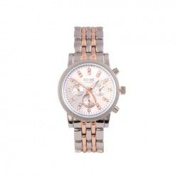 SO-ME LONDON Fashion watch stainless steel - silver/ rose gold
