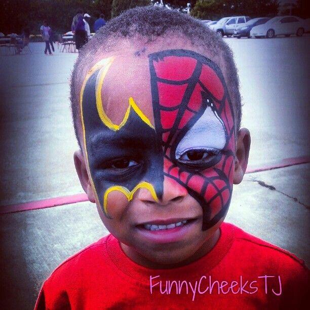 Face Painting #fall harvest #batman #spiderman