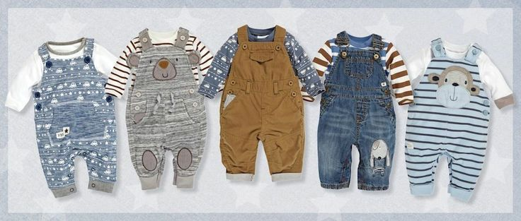 Dungarees for winter from Next for baby boys