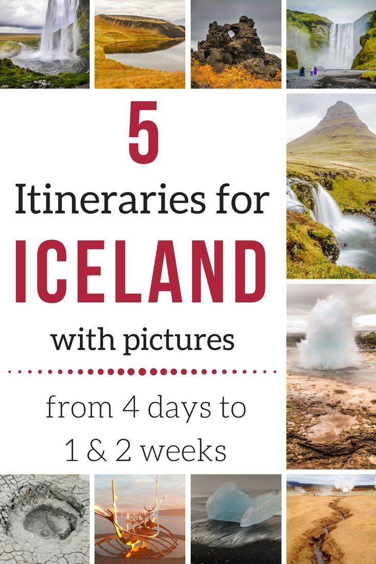 Iceland Itineraries with many photos -  Discover 5 suggestions for 4 days, one week South and one week North, 10 days Itinerary and more...    | Iceland Travel | Iceland Itinerary | Iceland Itinerary summer | Iceland Itinerary Road Trips