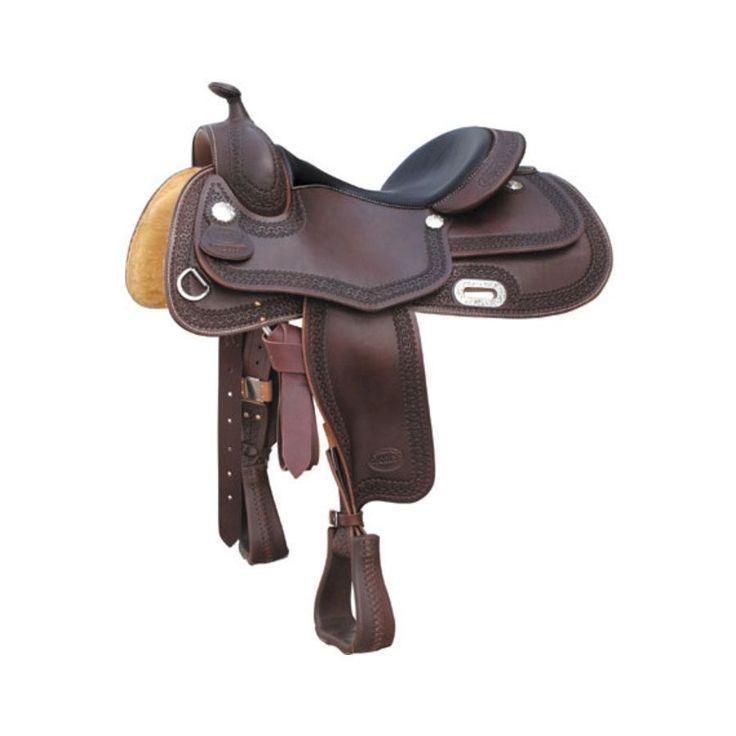 Sella da Reining modello Rainbow in cuoio harness e lavorazione border stamp.