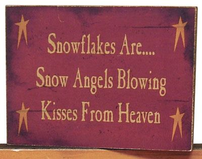 Wooden Signs With Sayings | Snowflakes Are...Sayings Block - Craft Wholesalers --