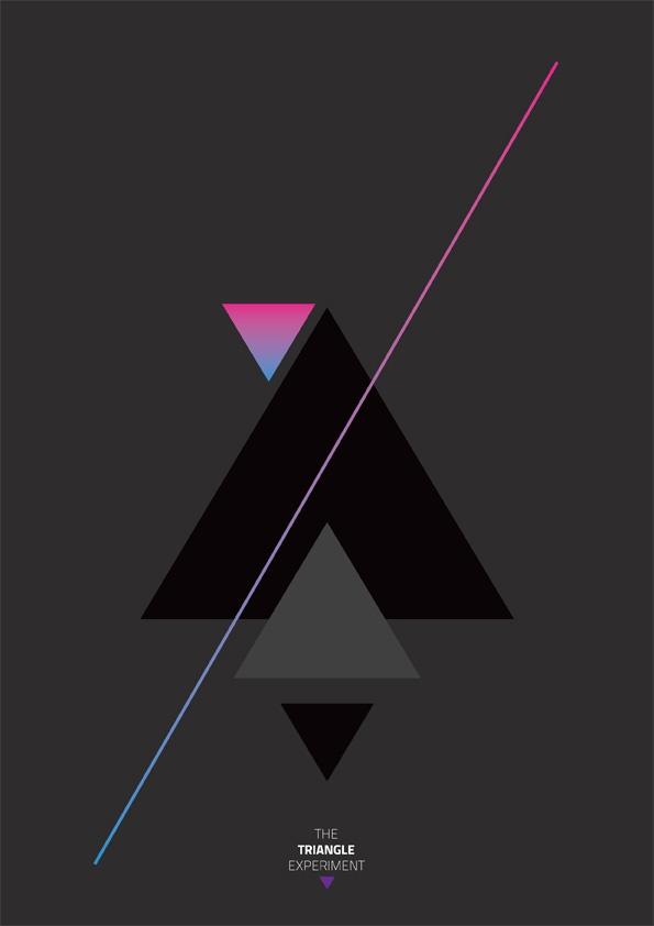The Triangle Experiment Idea + Art Direction + Graphic Design + Print.