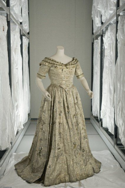 Costume designed by Franco Zeffirelli for Joan Sutherland in the 1960-62 Royal Opera's production of Verdi's La traviata