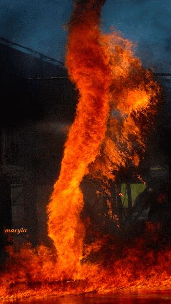 Fire tornado gif.