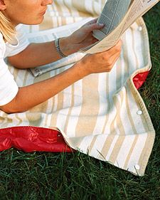 I want one of these: Summer Picnic, Craft, Sewing Projects, Picnic Blanket, Outdoor, Waterproof Blanket, Martha Stewart, Blankets