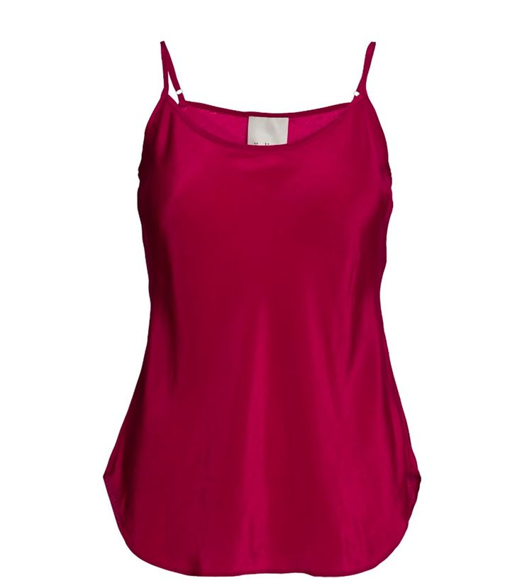 "SUST SILK Elegant camisole, red.  Exclusive and simple camisole. The camisole has adjustable straps and is super soft. Limited. Made from 100% silk in ""dead stock"", which means that it's made from residues from other collections. Because of that, the camisole is limited."