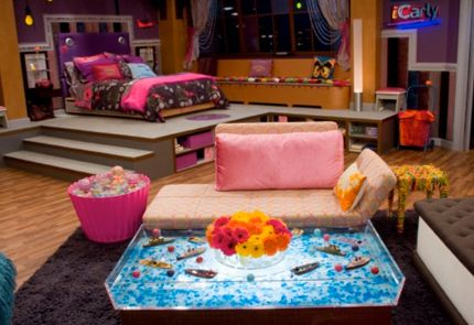 icarly...love the coffe table & cupcake table, great stuff for a game room