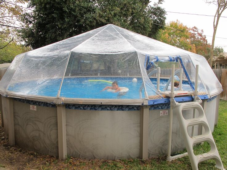 Above ground pool dome design decor 32591 decorating ideas - How to make your own swimming pool heater ...