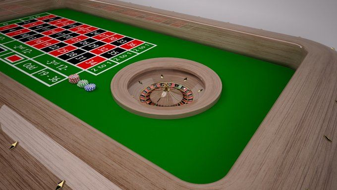 Roulette Table by Graphics834 on @creativemarket